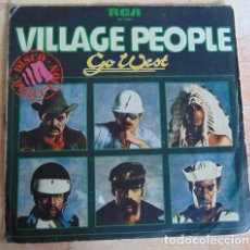 Discos de vinilo: VILLAGE PEOPLE - GO WEST - SINGLE. Lote 161260878