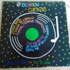 Discos de vinilo: RAINBOW CURTAINS – GIRLS ON VINYL - LIVE IN L.A. - EP 6 TEMAS. Lote 161261578