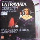Discos de vinilo: LP - VERDI - LA TRAVIATA (TRIPLE DISCO CON LIBRETO, SPAIN, BASF 1974). Lote 161275294