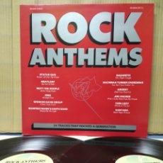 Discos de vinilo: ROCK ANTHEMS - 70'S ROCK HITS ( HIMNOS DEL ROCK ) 2XLP 1985 UK GATEFOLD. Lote 161283034