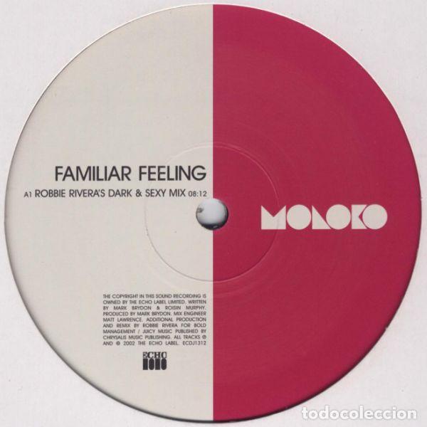 MOLOKO – FAMILIAR FEELING / ECHO- UK / 2002 (Música - Discos de Vinilo - EPs - Techno, Trance y House)