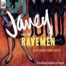 Discos de vinilo: JANEY AND THE RAVEMEN STAY AWAY FROM BOYS LP . KAISERS RAPIERS FABIENNE DELSOL. Lote 175144524