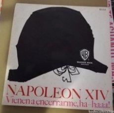 Discos de vinil: NAPOLEON XIV. VIENEN A ENCERRARME, HA HAAA!. CON HOJA. Lote 161330204