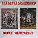 Discos de vinilo: COBLA MONTGRINS – SARDANES A CARDEDEU - LP INTERDISC 1975 . Lote 161345018