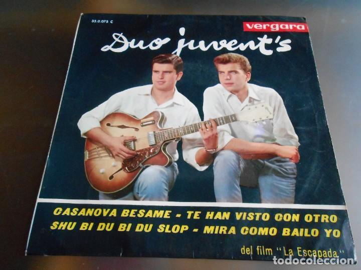 DUO JUVENT´S, EP, CASANOVA BESAME + 3, AÑO 1963 (Música - Discos de Vinilo - EPs - Grupos Españoles 50 y 60)