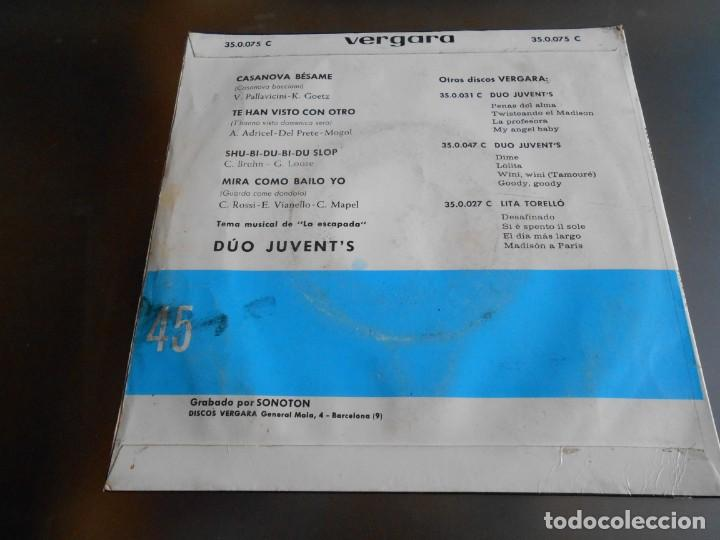 Discos de vinilo: DUO JUVENT´S, EP, CASANOVA BESAME + 3, AÑO 1963 - Foto 2 - 161350654