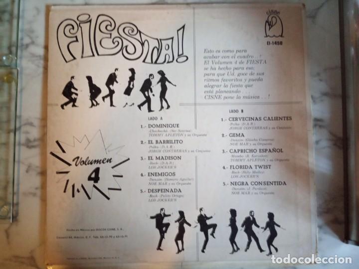 Discos de vinilo: FIESTA VOL 4 VVAA (LOS JOKERS, TOMMY APPLETON,.) LATIN RNR TWIST LP ORIGINAL MEXICO 196? RARO VG+ - Foto 2 - 161354214