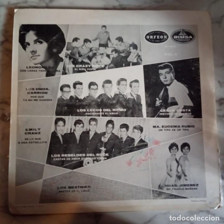 Discos de vinilo: EXPLOSIVOS 2 VVAA (CRAZY BOYS LOCOS RITMO REBELDES) LATIN RNR LP ORIGINAL MEXICO 196? RARO VG/VG+ - Foto 2 - 161356222