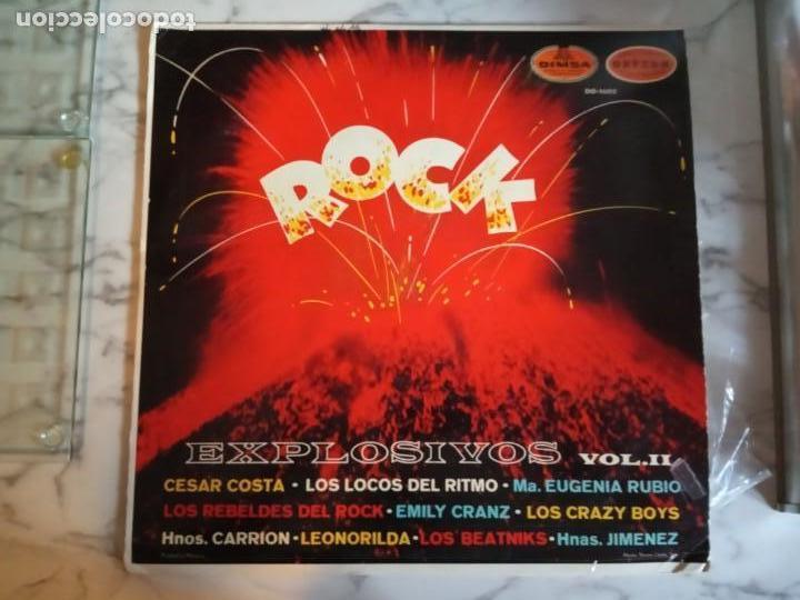 EXPLOSIVOS 2 VVAA (CRAZY BOYS LOCOS RITMO REBELDES) LATIN R'N'R LP ORIGINAL MEXICO 196? RARO VG/VG+ (Música - Discos - LP Vinilo - Rock & Roll)