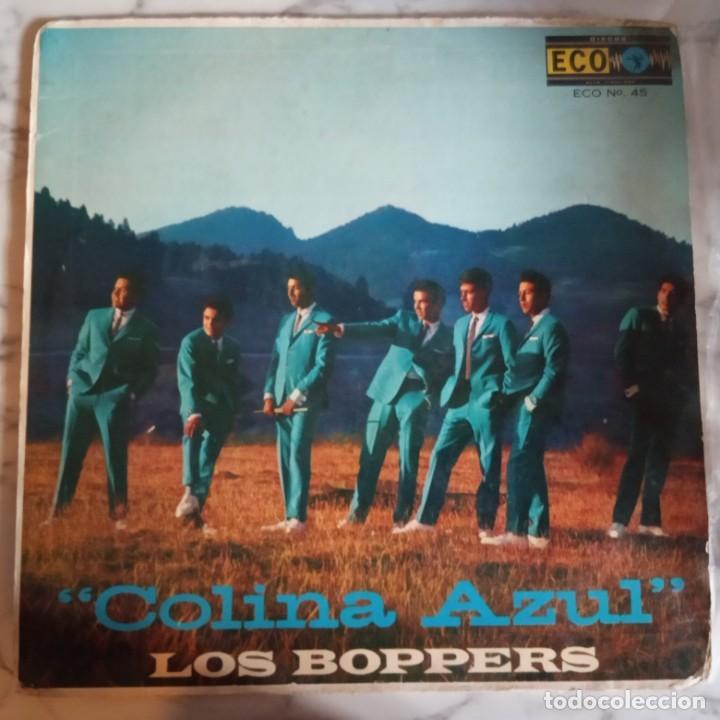 LOS BOPPERS - COLINA AZUL LATIN R'N'R LP ORIGINAL MEXICO 1961 VG (Música - Discos - LP Vinilo - Rock & Roll)