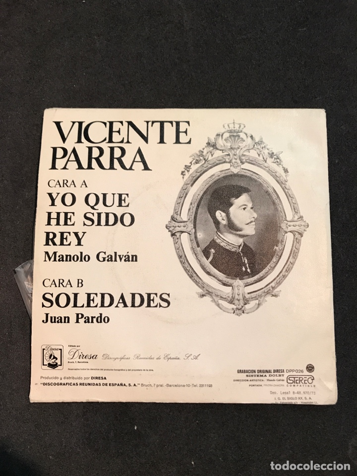 Discos de vinilo: VICENTE PARRA SINGLE DE 1973 - Foto 2 - 161357425