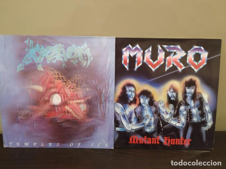 Discos de vinilo: MURO - MUTANT HUNTER + VENOM - TEMPLES OF ICE + RAVEN 2 LP LIVE - Foto 7 - 159444686