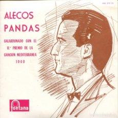 Disques de vinyle: ALECOS PANDA / YO CORTARE DOS ROSAS (FESTIVAL DE LA CANCION MEDITERRANEA) EP 1960. Lote 161381354