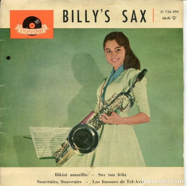 BILLY'S SAX / BIKINI AMARILLO + 3 (EP ESPAÑOL 1961) (Música - Discos de Vinilo - Maxi Singles - Pop - Rock Extranjero de los 50 y 60)