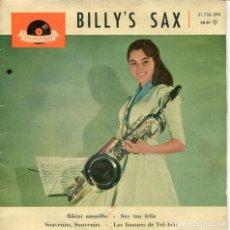 Discos de vinilo: BILLY'S SAX / BIKINI AMARILLO + 3 (EP ESPAÑOL 1961). Lote 161385250