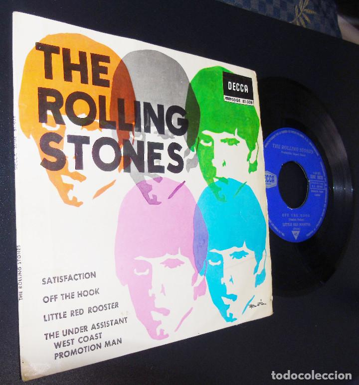 Discos de vinilo: THE ROLLING STONES --SATISFACTION & OFF THE HOOK & LITTLE RED ROOSTER -- AÑO 1965 - Foto 8 - 161014666