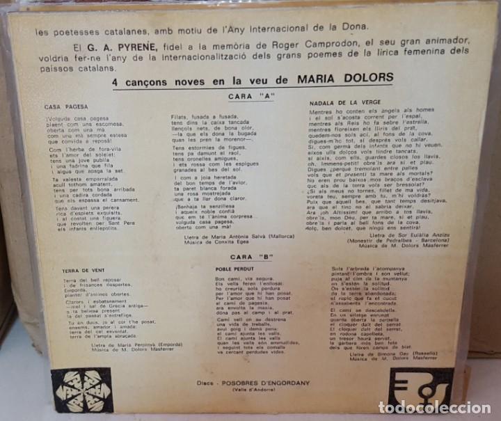 Discos de vinilo: EP / MANAT DHOMENATGE A LA DONA / CANTA MARIA DOLORS POEMAS DE - Foto 2 - 161387382