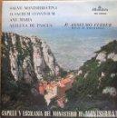 Discos de vinilo: CAPILLA Y ESCOLANIA DE MONTSERRAT-P. ANSELMO FERRER - LP 10 PULGADAS, ALHAMBRA 1968. Lote 161390574
