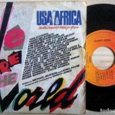 Discos de vinilo: USA FOR AFRICA - WE ARE THE WORLD - SINGLE ESPAÑOL 1985 - CBS. Lote 161392602