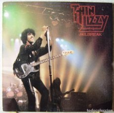 Discos de vinilo: THIN LIZZY.JAILBREAK..LIVE AT THE REGAL,HITCHIN,ENGLAND..NO OFICIAL..MUY RARO...EX+. Lote 161432462