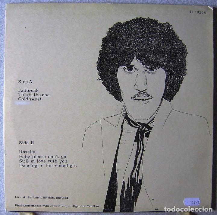 Discos de vinilo: THIN LIZZY.JAILBREAK..LIVE AT THE REGAL,HITCHIN,ENGLAND..NO OFICIAL..MUY RARO...EX+ - Foto 2 - 161432462