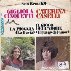 Discos de vinilo: SAN REMO 69 (GIGLIOLA CINQUETTI - CATERINA CASELLLI) DIS60. Lote 161452666