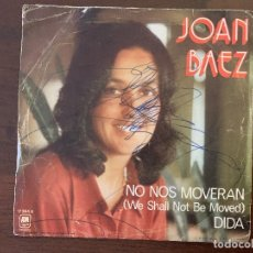 Disques de vinyle: JOAN BAEZ ?– NO NOS MOVERAN (WE SHALL NOT BE MOVED) / DIDA SELLO: A&M RECORDS ?– 17.364-A . Lote 161456914