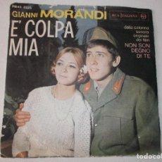 Discos de vinilo: GIANNI MORANDI ... SI FA SERA + E' COLPA MIA ** RCA ITALIANA. Lote 200003111