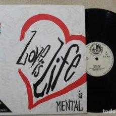 Discos de vinilo: CANDY FLIP LOVE IS LIFE IS MENTAL MAXI SINGLE VINYL MADE IN SPAIN . Lote 161472146
