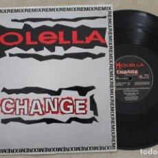Discos de vinil: MOLELLA CHANGE MAXI SINGLE VINYL MADE IN ITALY 1994. Lote 161475630