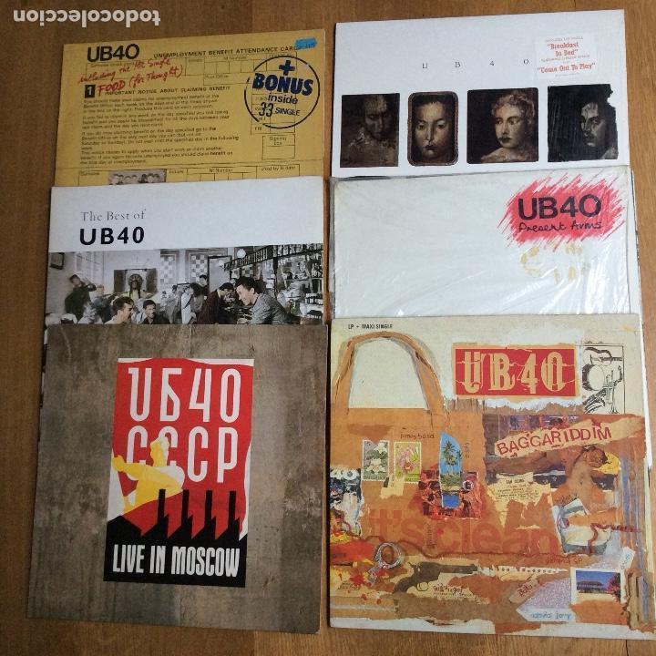 LOTE DE 6 LPS DE UB40 PERFECTOS (Música - Discos - LP Vinilo - Reggae - Ska)