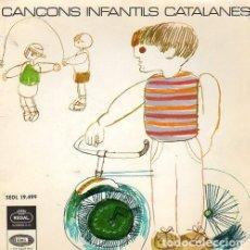 Discos de vinilo: CORAL ELISENDA. CANÇONS INFANTILS CATALANES. EP REGAL EMI 1966.. Lote 161488858
