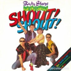 Discos de vinilo: ROCKY SHARPE AND THE REPLAYS - SHOUT SHOUT 81, 14 TEMAS, GREAT ROCK N ROLL, EDIT ORG UK, IMPECABLE. Lote 161496690