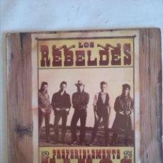Discos de vinilo: LOS REBELDES PREFERIBLEMENTE VIVOS 2 LPS. Lote 161509314