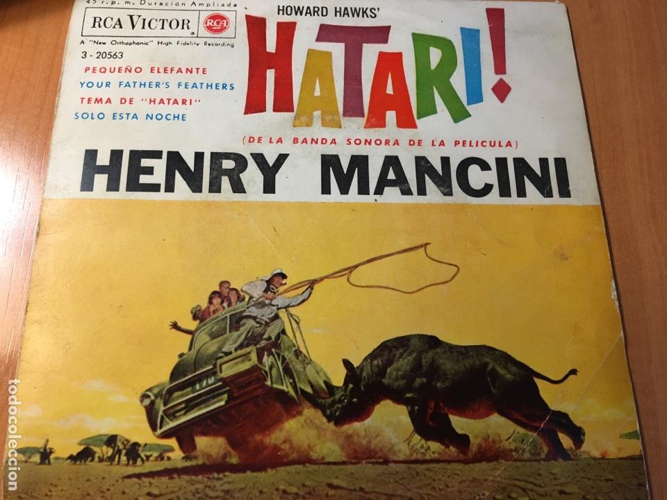 HENRY MANCINI – HATARI (DE LA BANDA SONORA DE LA PELICULA) ( RCA ?– 3-20563) (Música - Discos de Vinilo - EPs - Bandas Sonoras y Actores)
