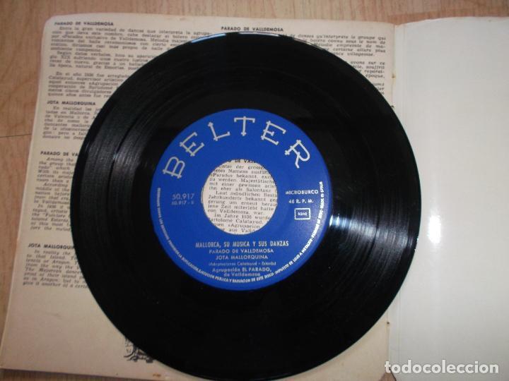 Discos de vinilo: MALLORCA, SU MÚSICA Y SUS DANZAS - EP BELTER 1960 - AGRUPACIÓN EL PARADO DE VALLDEMOSA - Foto 4 - 161537178