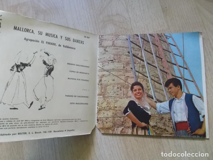 Discos de vinilo: MALLORCA, SU MÚSICA Y SUS DANZAS - EP BELTER 1960 - AGRUPACIÓN EL PARADO DE VALLDEMOSA - Foto 6 - 161537178