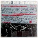 Discos de vinilo: COBLA BARCELONA – SARDANES PER LA COBLA BARCELONA - LP EDIGSA SPAIN 1965 . Lote 161546394