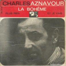 Discos de vinilo: CHARLES AZNAVOUR, LA BOHEME. BARCLAY 1965. Lote 161555526
