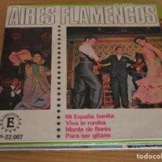 Discos de vinilo: PACORRO Y LA MULATA GITANA - AIRES FLAMENCOS - ESPECTRA-SINTONIA EP-22.007 - 1968. Lote 161602178