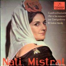 Discos de vinilo: NATI MISTRAL / CUADROS DISOLVENTES + 3 (EP 1965). Lote 161612490