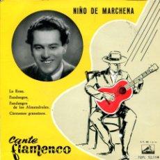 Discos de vinilo: NIÑO DE MARCHENA / LA ROSA + 3 (EP 1959). Lote 287844293