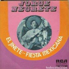 Discos de vinilo: JORGE NEGRETE. SINGLE. SELLO RCA VICTOR. EDITADO EN ESPAÑA. AÑO 1973. Lote 161644138