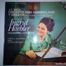 Discos de vinilo: J.C. BACH - CONCERTOS FOR CLAVIER AND ORCHESTRA OP. 7 NOS. 1, 2 AND 3 / OP. 13 NO. 4. Lote 161668350