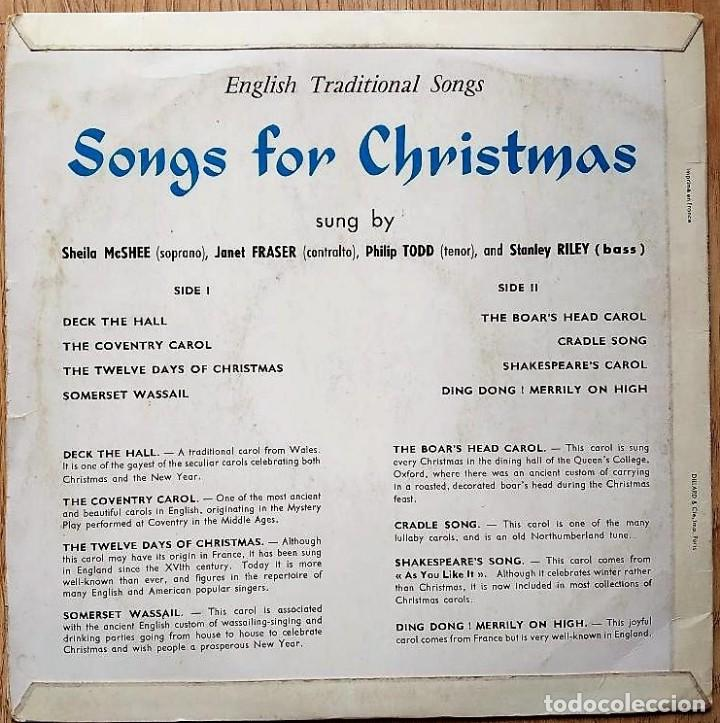 SONGS FOR CHRISTMAS (ENGLISH TRADITIONAL SONGS) - DISCO 10 PULGADAS FRANCE  1961 + LETRAS