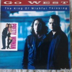 Discos de vinilo: GO WEST-THE KING OF WISHFUL THINKING. Lote 161683738