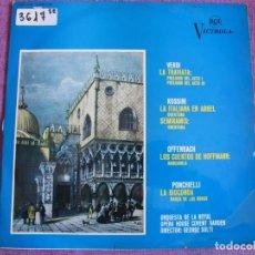 Disques de vinyle: LP - VERDI, ROSSINI, OFFENBACH, PONCHIELLI - ORQUESTA DE LA ROYAL OPERA HOUSE COVENT GARDEN. Lote 161686342