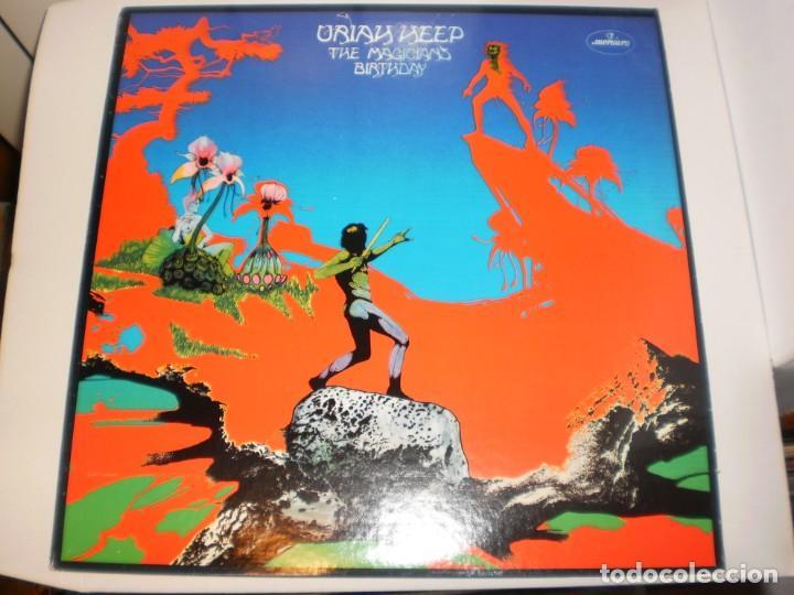 LP URIAH HEEP. THE MAGICIANS BIRTHDAY. MERCURY 1972 USA (DISCO PROBADO Y BIEN, SEMINUEVO) (Música - Discos - Singles Vinilo - Pop - Rock - Extranjero de los 70)
