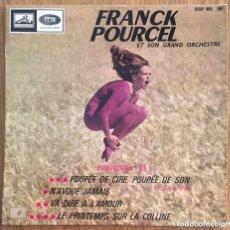 Discos de vinilo: FRANK POURCEL POUPEE DE CIRE EUROVISION 65 (SERGE GAINSBOURG) EP EXCELENTE. Lote 161706970