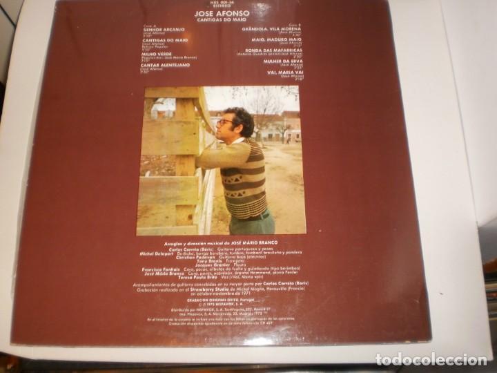 Discos de vinilo: lp josé afonso cantigas do maio. hispavox 1974 spain encarte (tiene grandola vila morena, seminuevo) - Foto 2 - 161708306